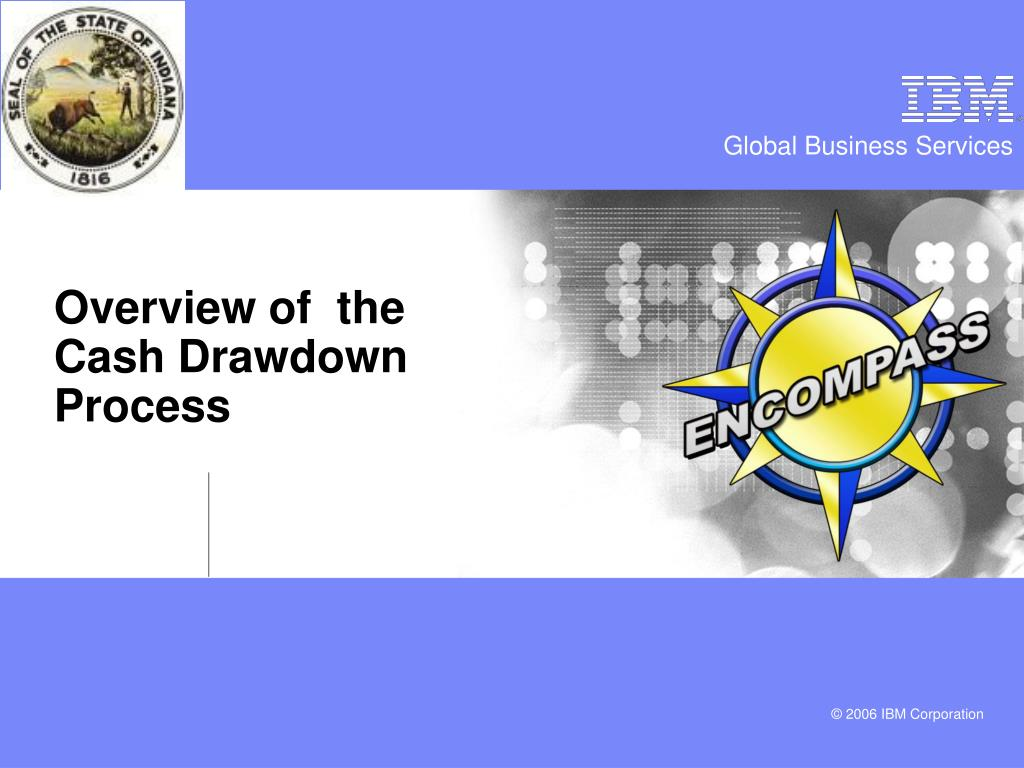 Overview of  the           Cash Drawdown Process