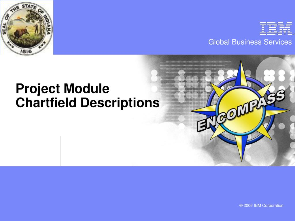 Project Module Chartfield Descriptions