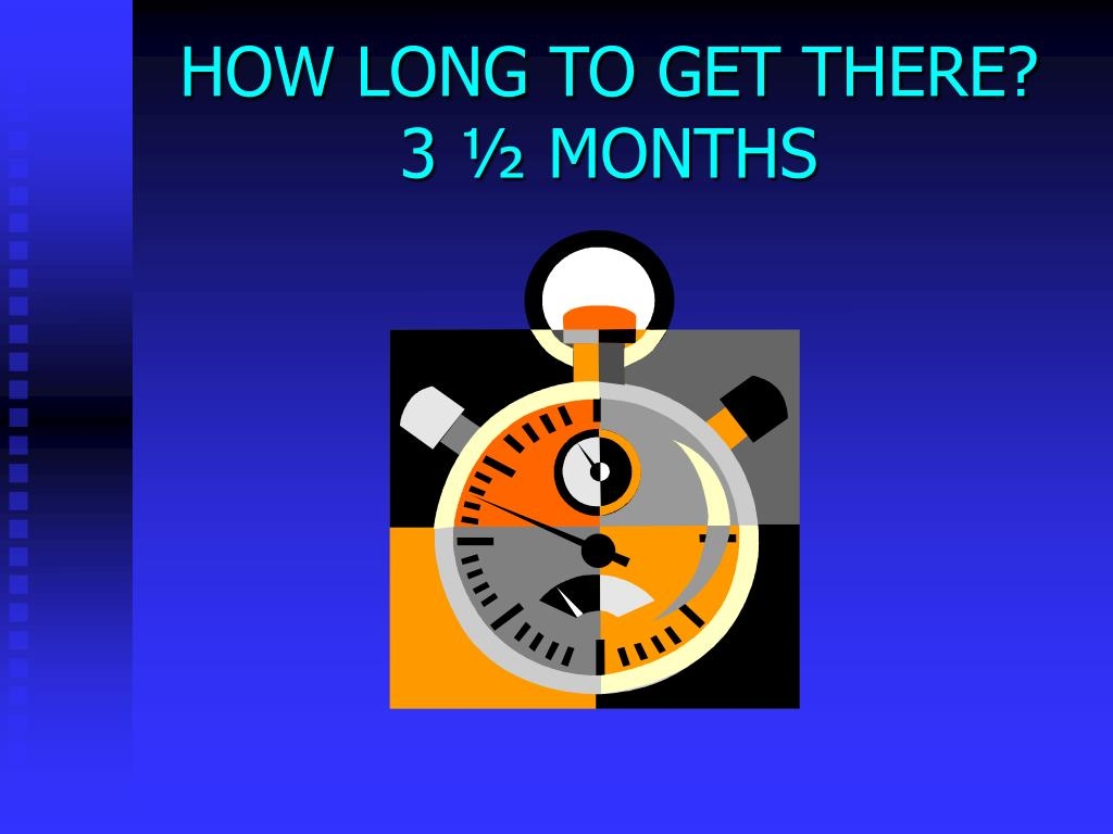 HOW LONG TO GET THERE?