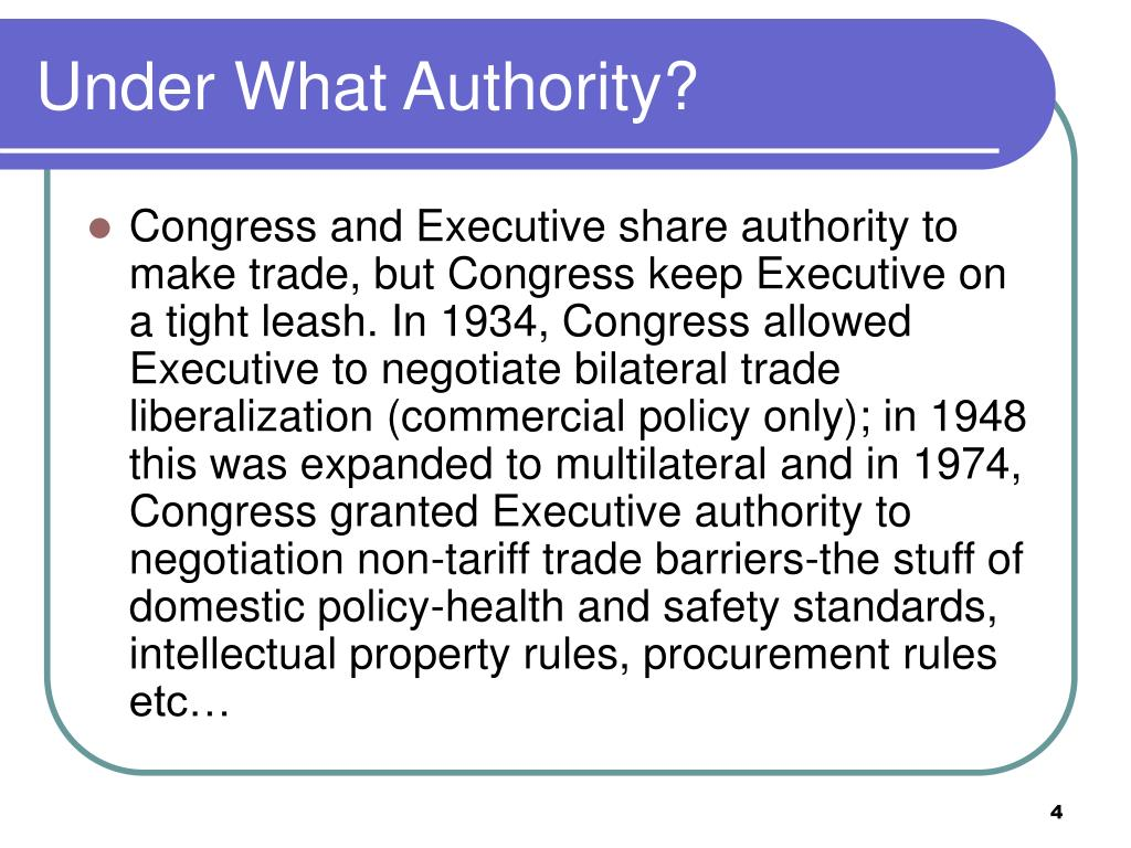 Under What Authority?