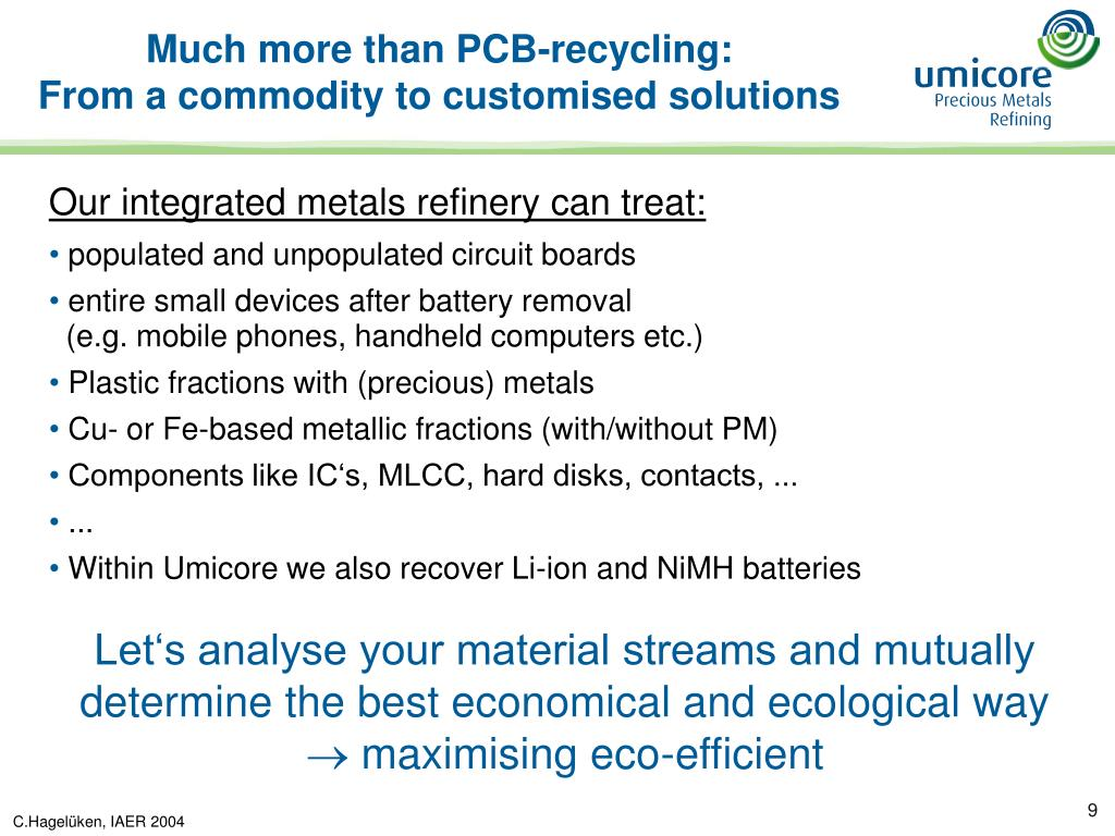Much more than PCB-recycling: