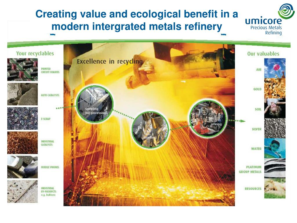 Creating value and ecological benefit in a modern intergrated metals refinery