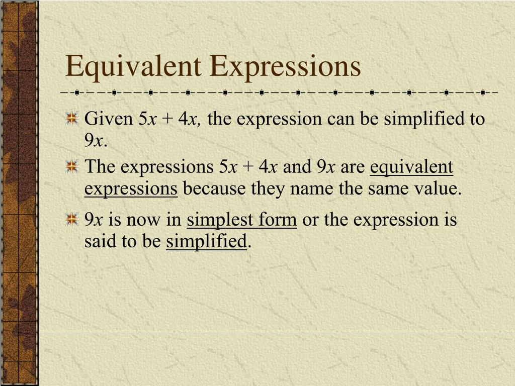 Equivalent Expressions