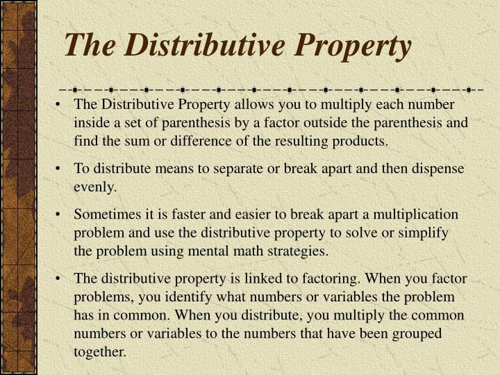 The distributive property2