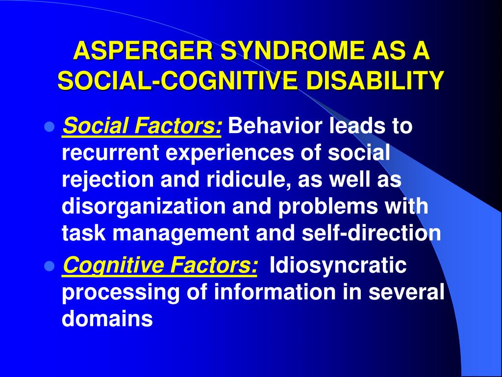 Social Security Disability and Aspergers Syndrome: Filing