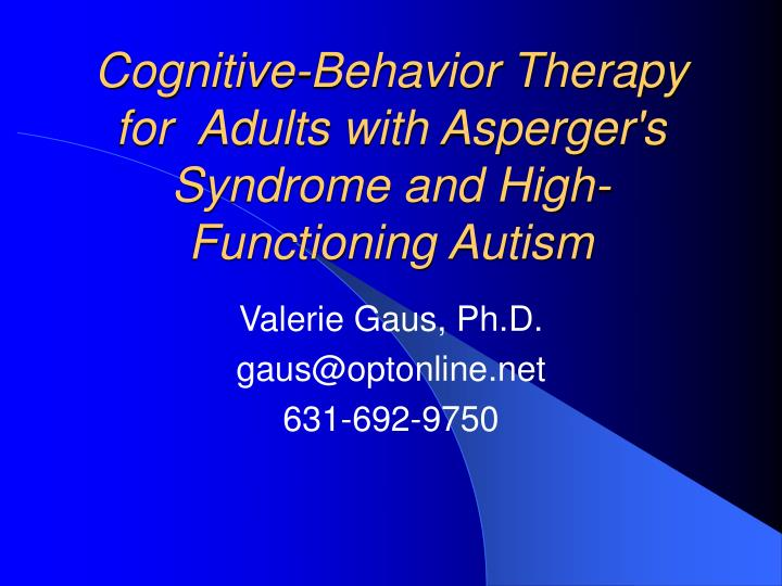 high functioning asperger adults