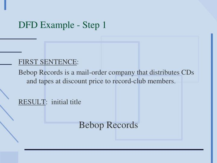 DFD Example - Step 1
