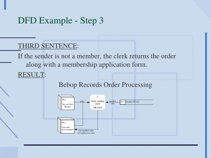 DFD Example - Step 3