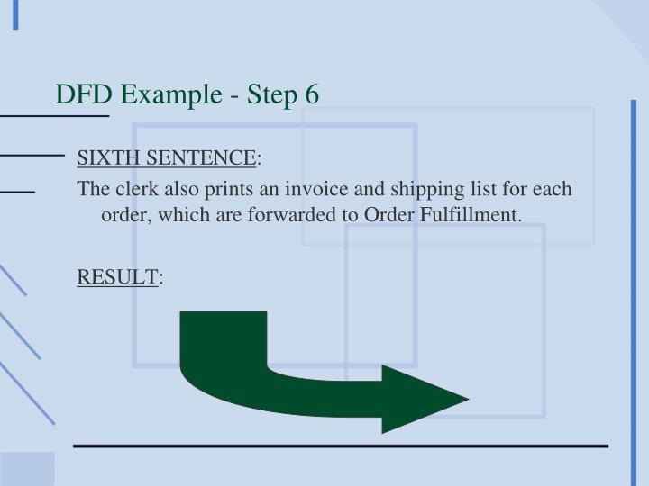 DFD Example - Step 6