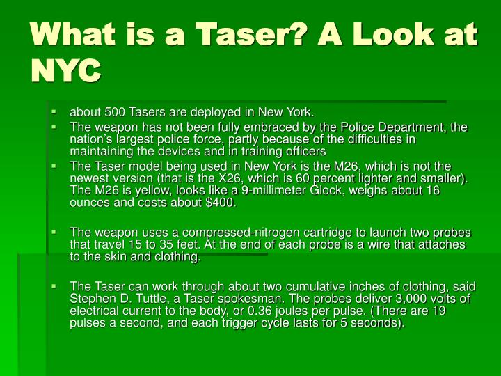 What is a Taser? A Look at NYC