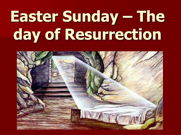 Easter Sunday – The day of Resurrection