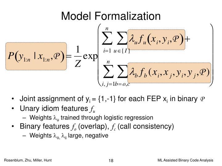 Model Formalization