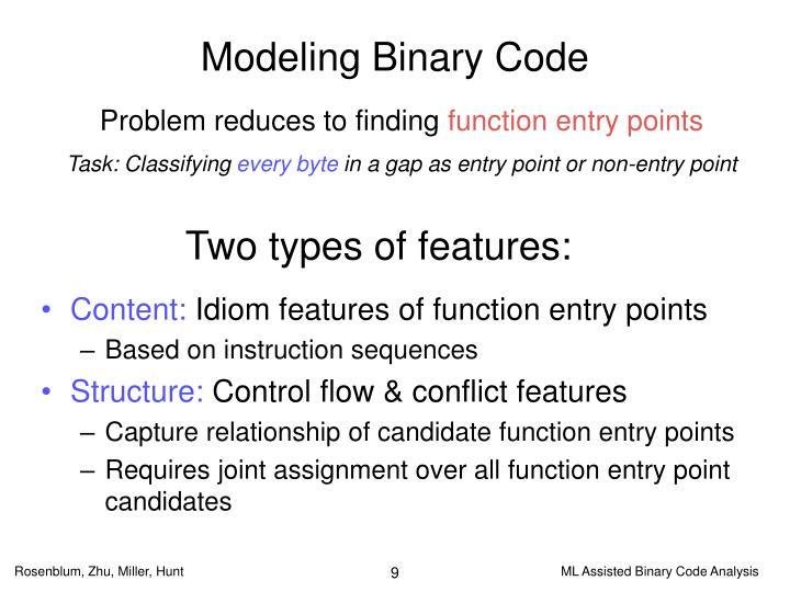 Modeling Binary Code