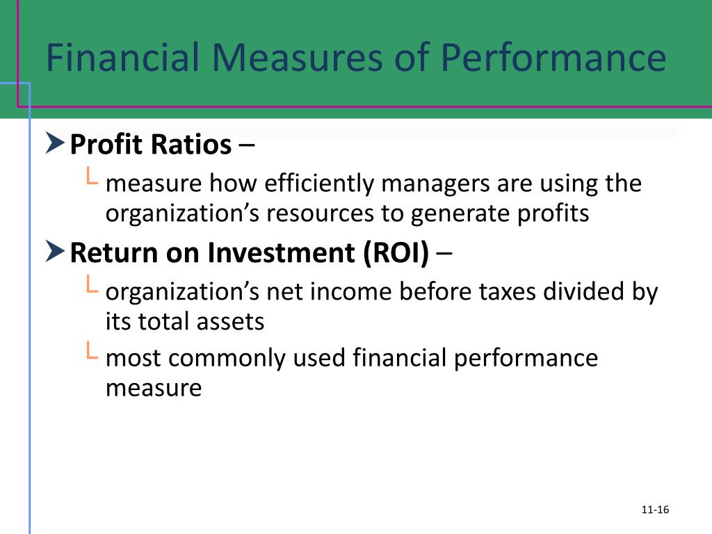 Financial Measures of Performance