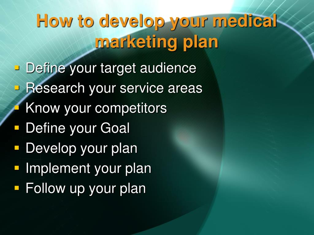 How to develop your medical marketing plan