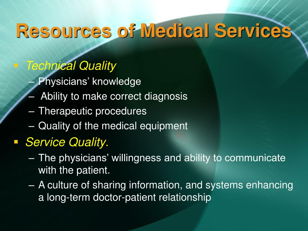Resources of Medical Services