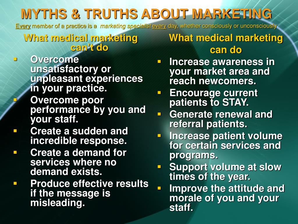 What medical marketing can't do