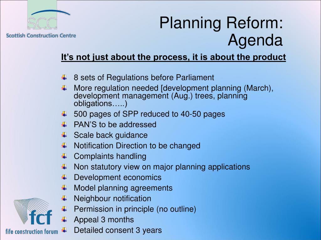 Planning Reform: