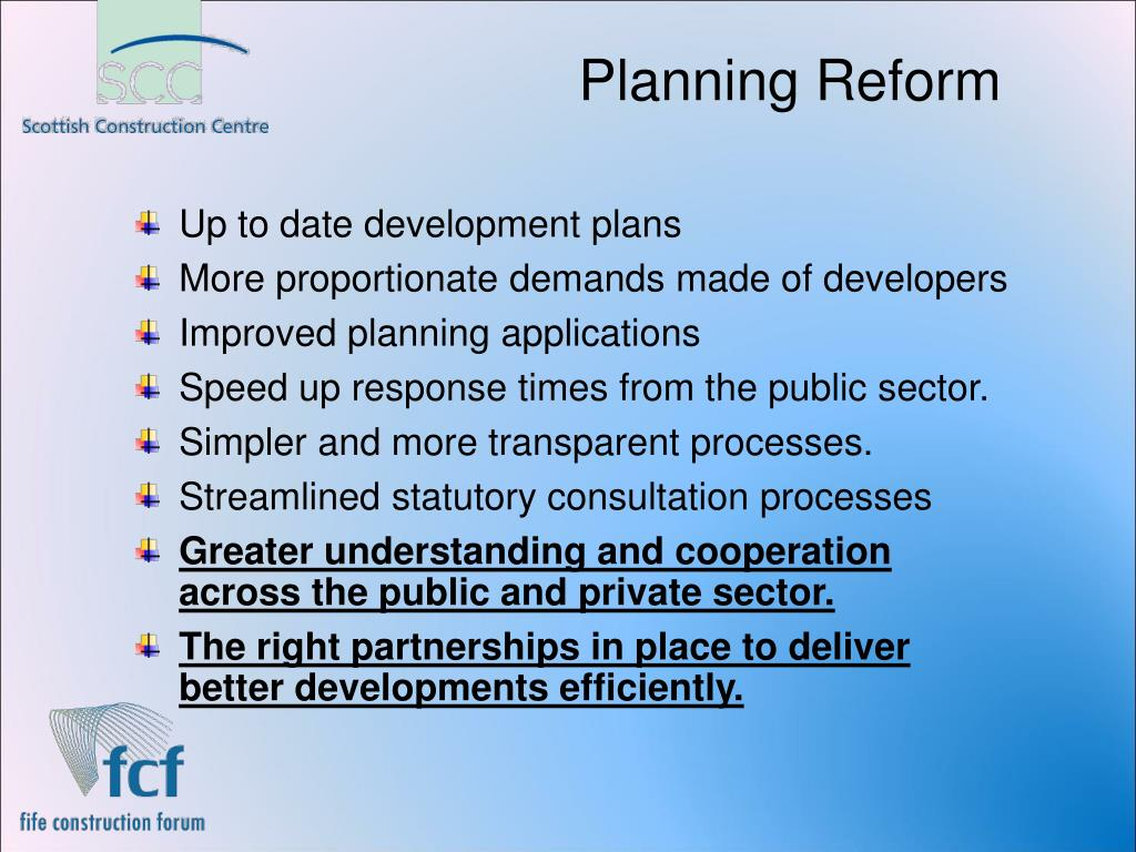 Planning Reform