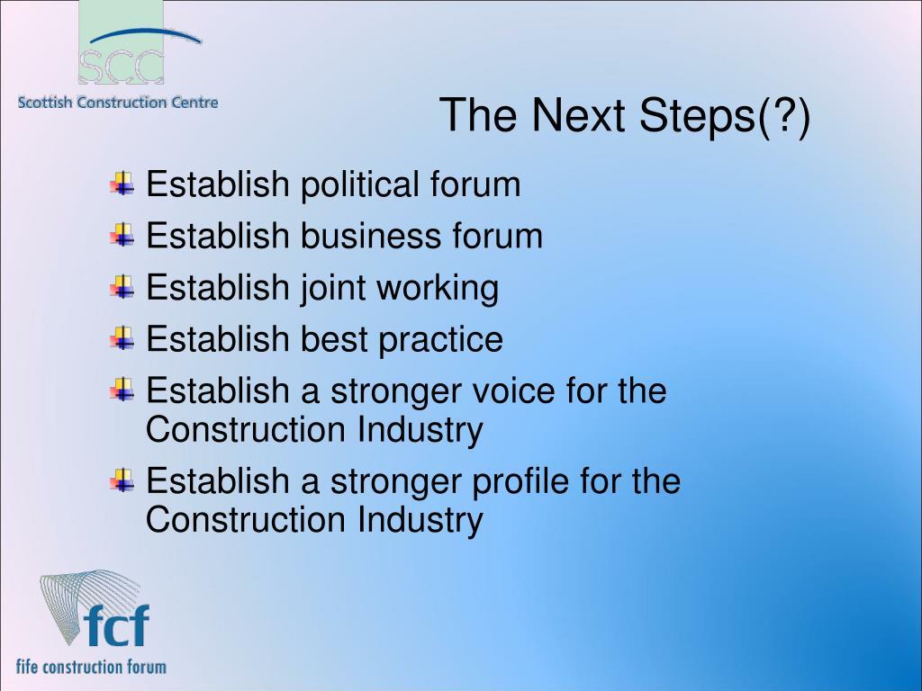 The Next Steps(?)