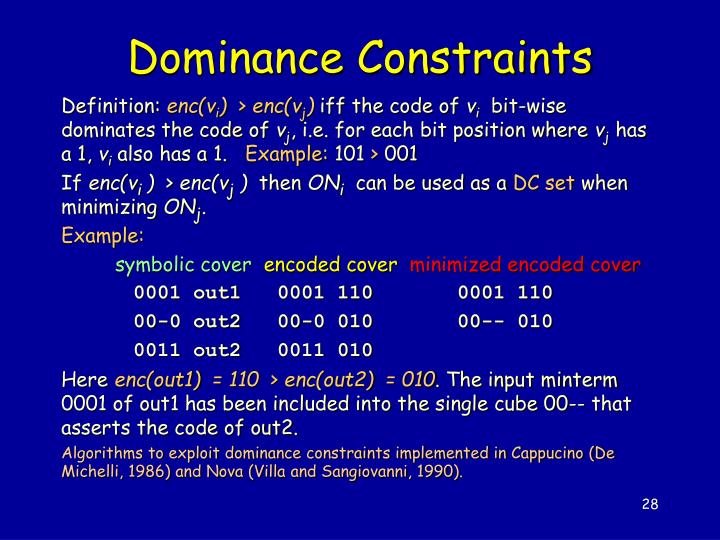 Dominance Constraints