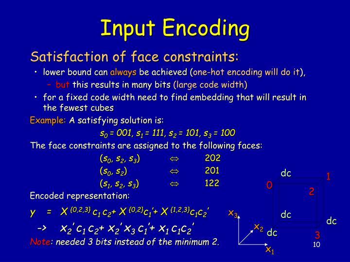 Input Encoding