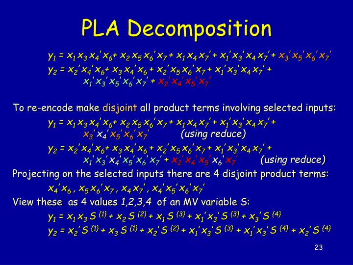 PLA Decomposition