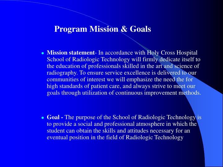 Program Mission & Goals
