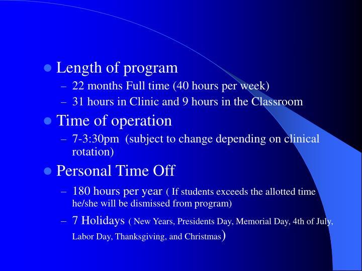 Length of program