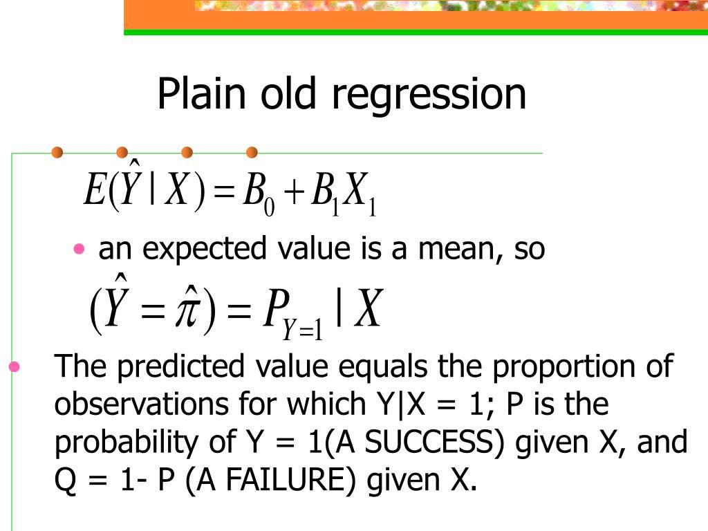 Plain old regression
