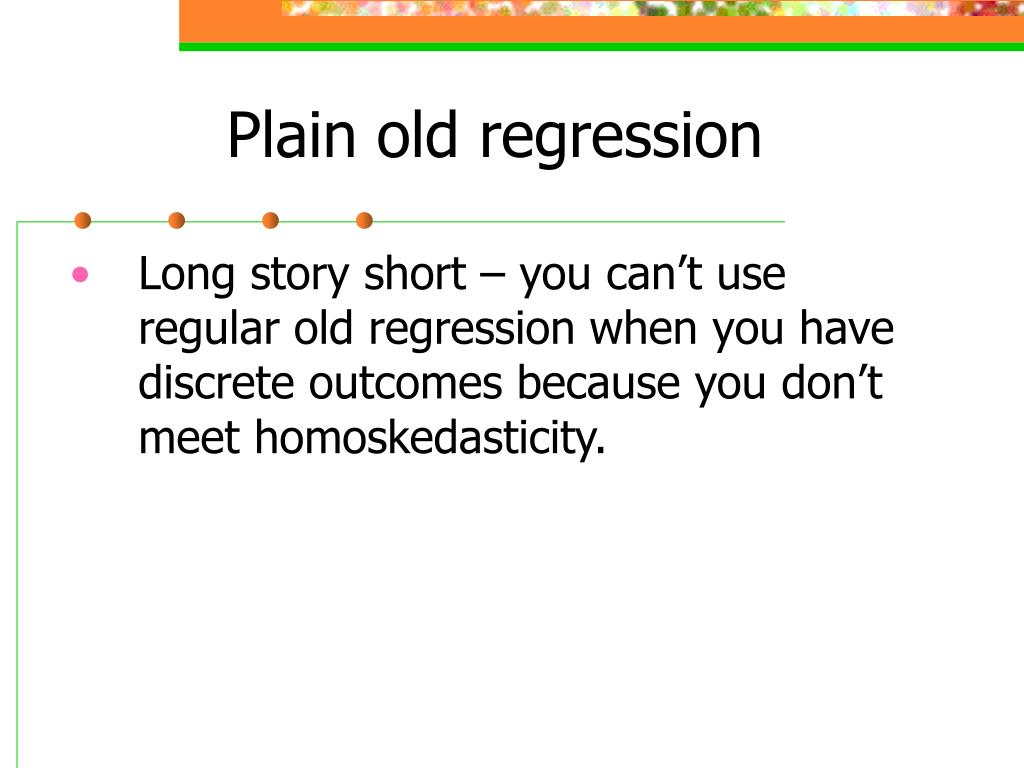 Plain old regression