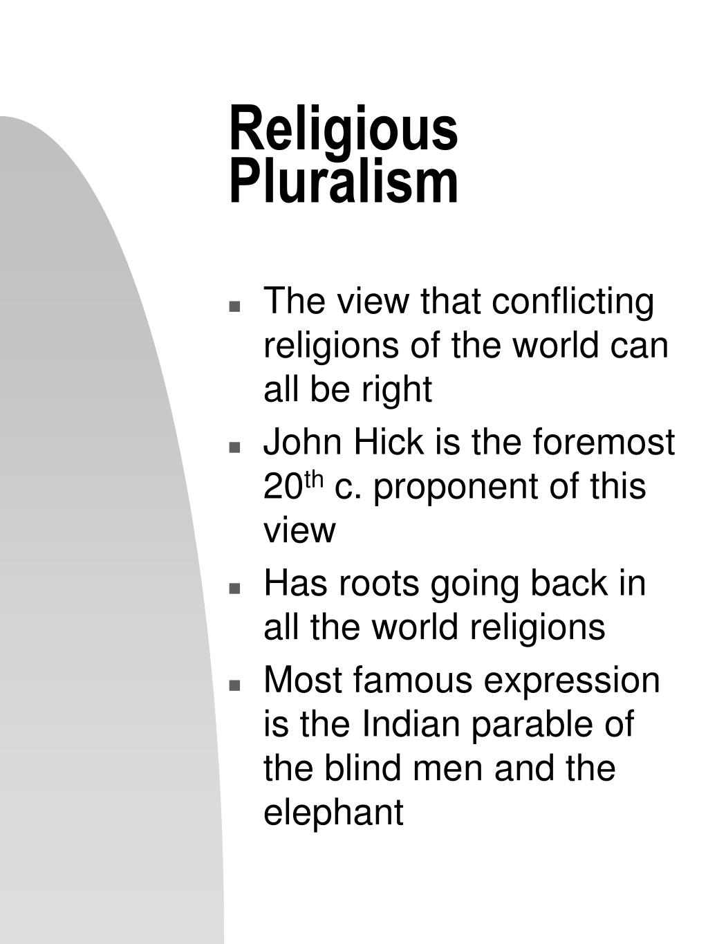 religious pluralism essay How to respond to religious pluralism jonathan dodson others insist there are many ways to god, a view popularly called religious pluralism.