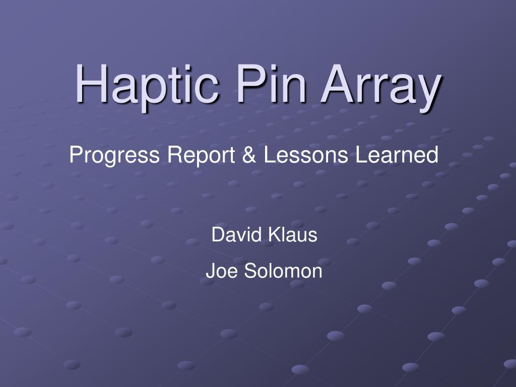 Haptic Pin Array