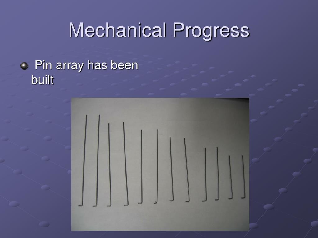 Mechanical Progress
