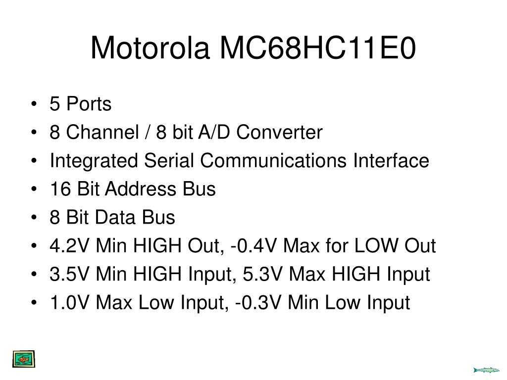 Motorola MC68HC11E0