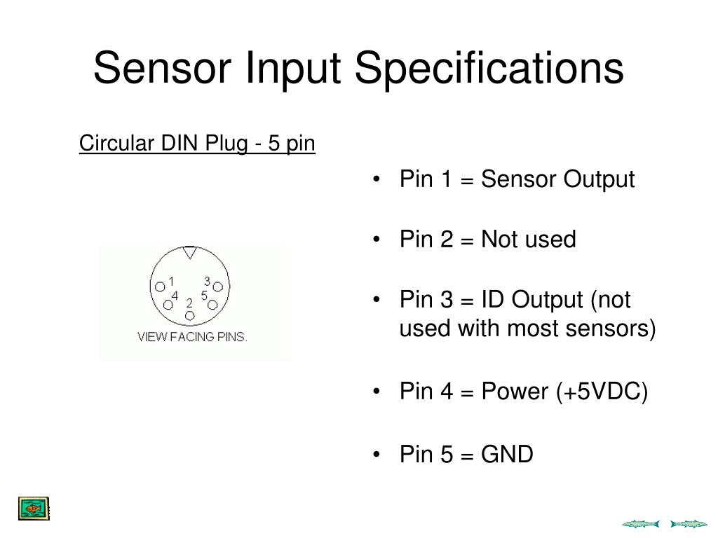 Sensor Input Specifications