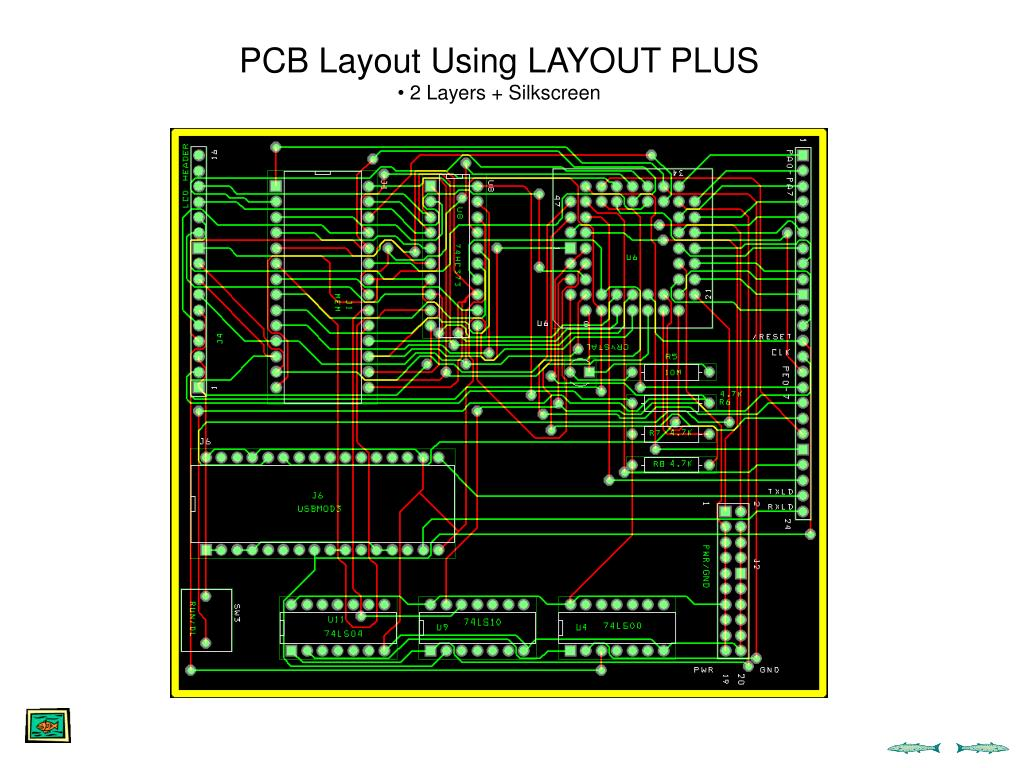 PCB Layout Using LAYOUT PLUS