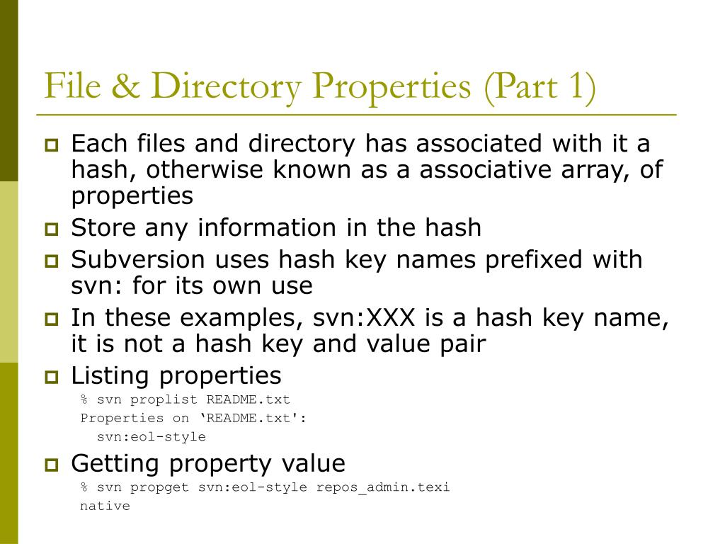 File & Directory Properties (Part 1)