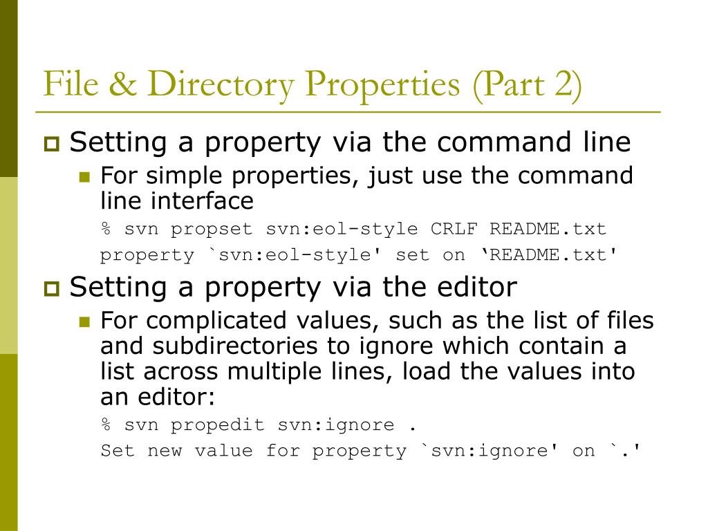 File & Directory Properties (Part 2)