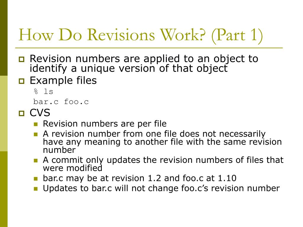 How Do Revisions Work? (Part 1)