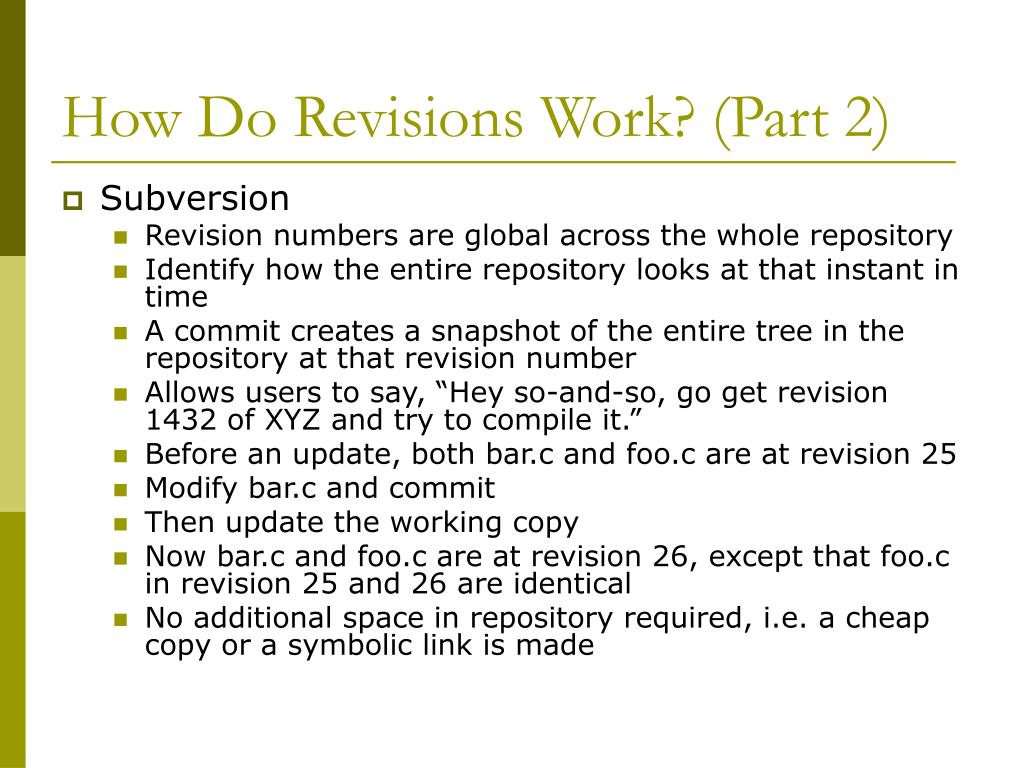 How Do Revisions Work? (Part 2)