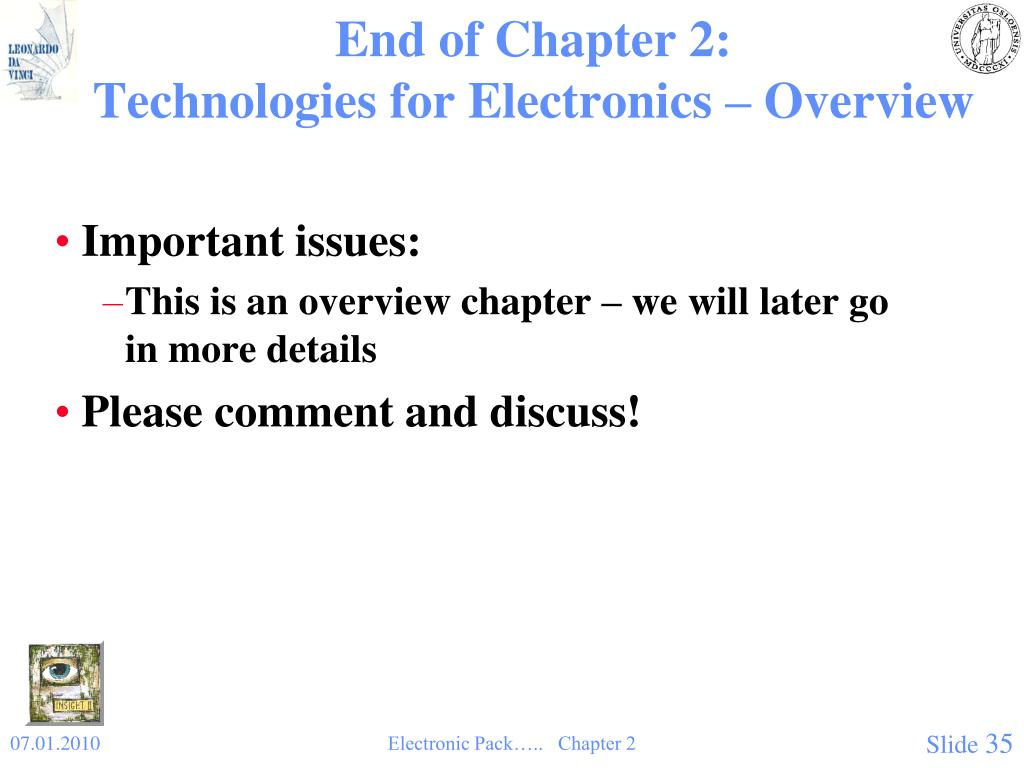 End of Chapter 2: