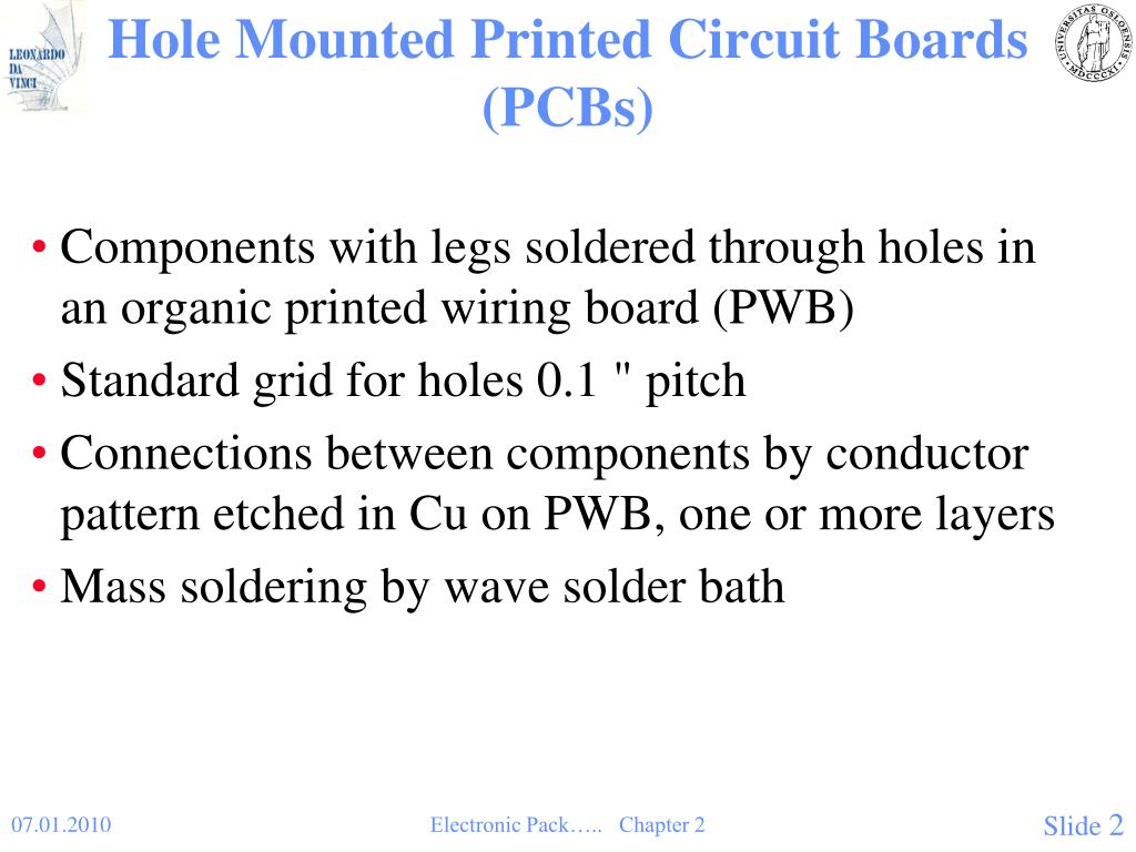 Hole Mounted Printed Circuit Boards (PCBs)