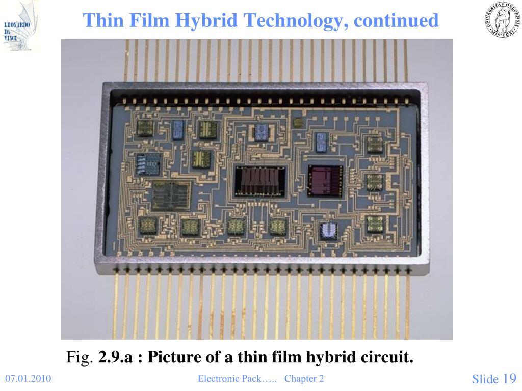 Thin Film Hybrid Technology, continued