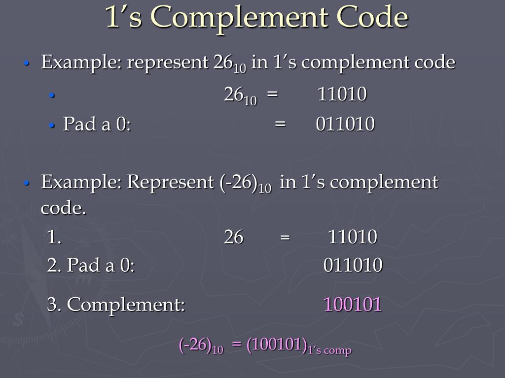 1's Complement Code
