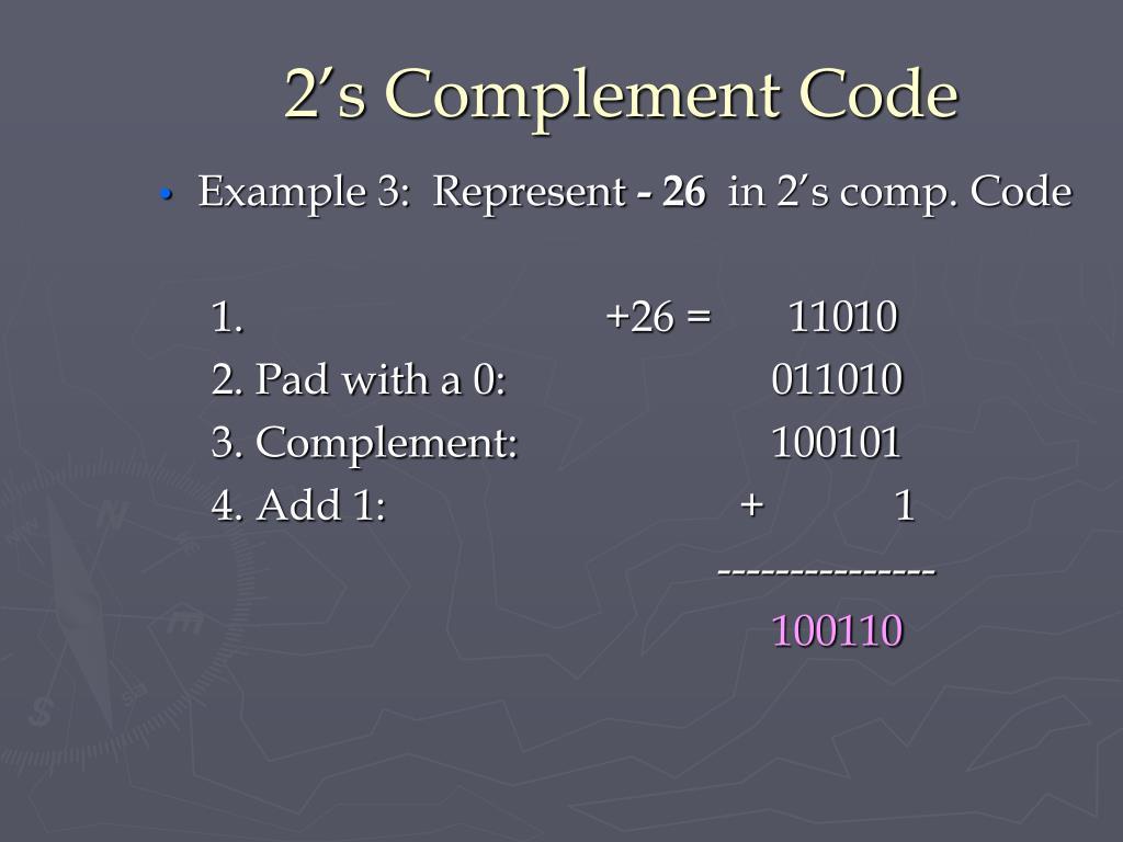2's Complement Code