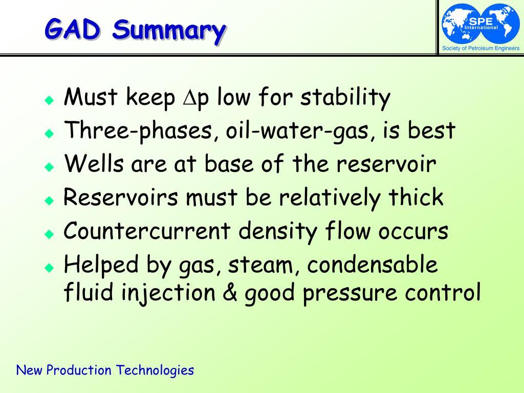 GAD Summary