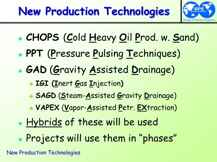 New production technologies3