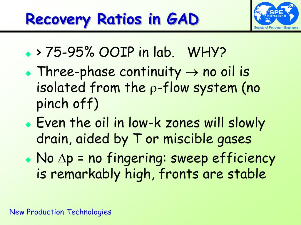 Recovery Ratios in GAD