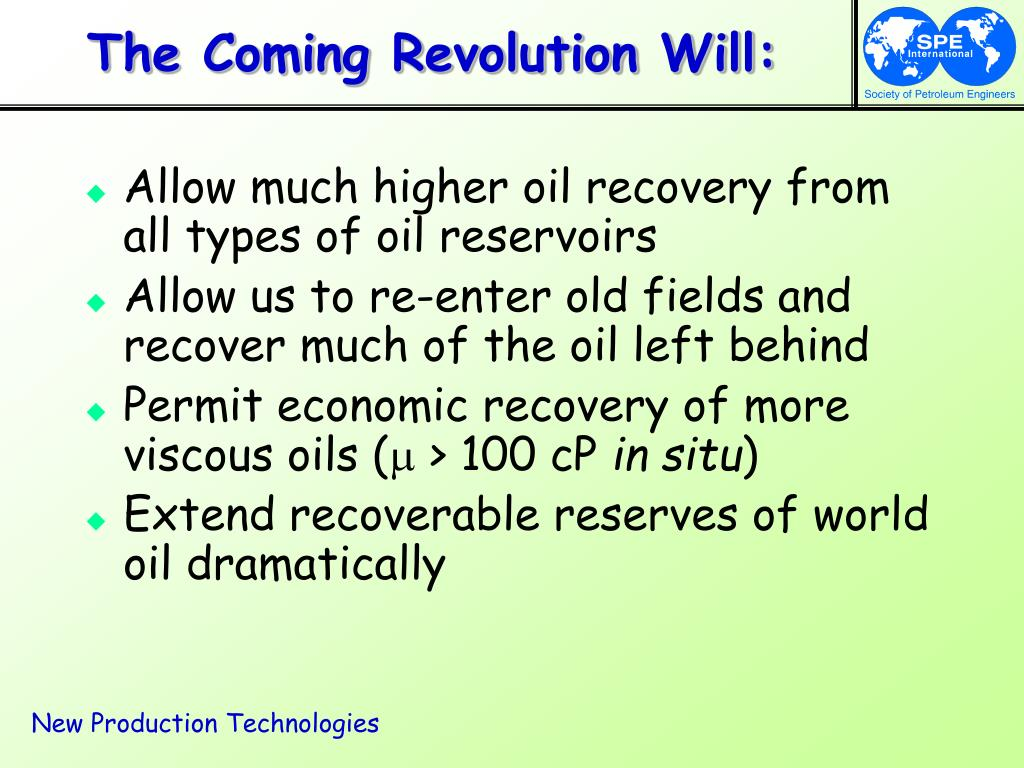 The Coming Revolution Will: